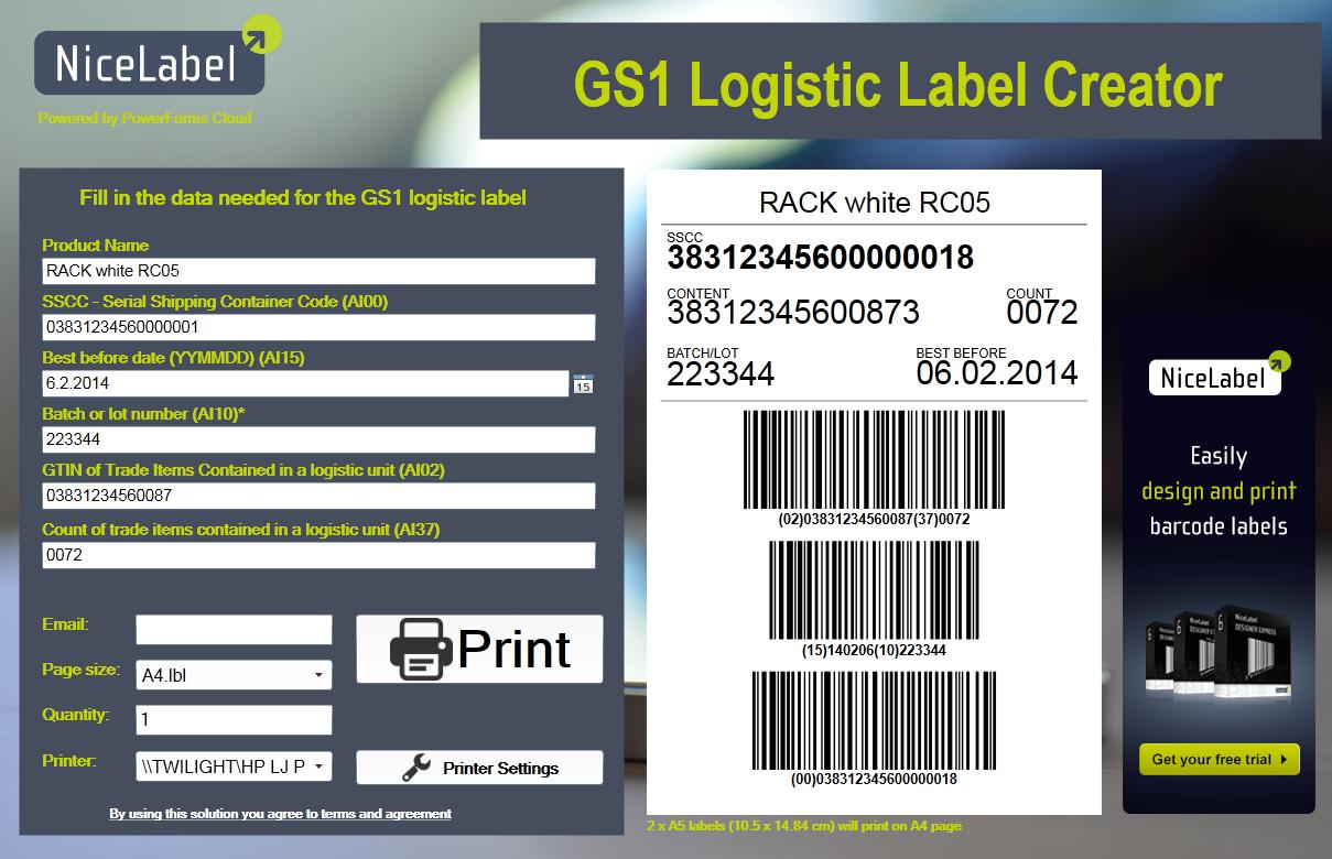 Códigos De Barras Presente En Toda La Cadena De: Etiquetado De Pallets GS1