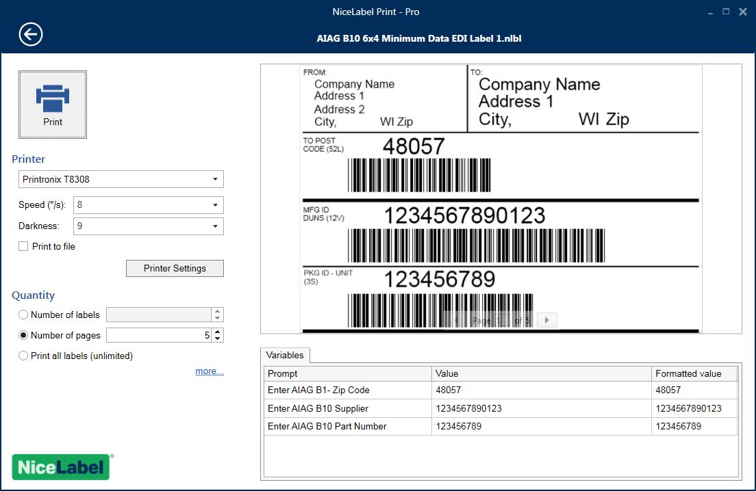 NiceLabel imprime formularios para eliminar los errores de impresión